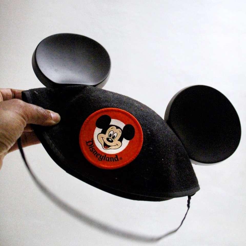 MICKEY MOUSE - Pessoa segurando o boné de Mickey Mouse. São Francisco, Bay Area, CA / Atenas, GA (10×10)