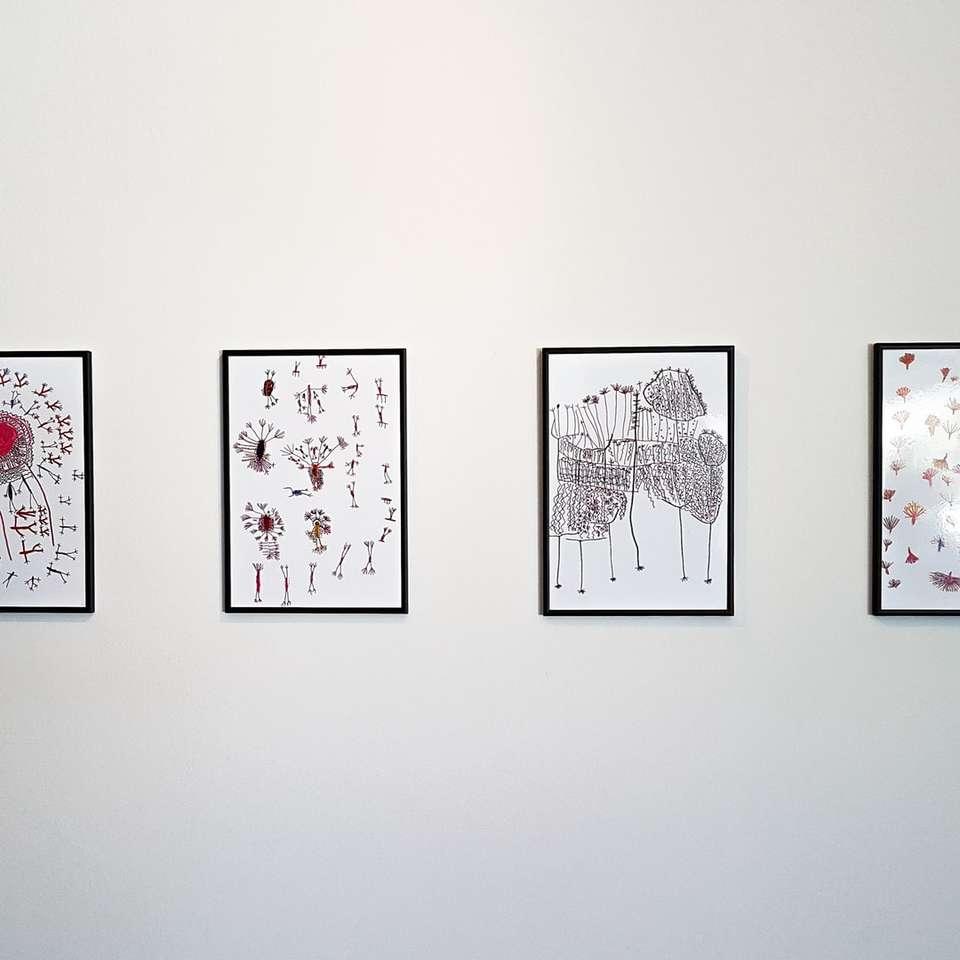 Trådbundna bilder på väggen -  (10×10)
