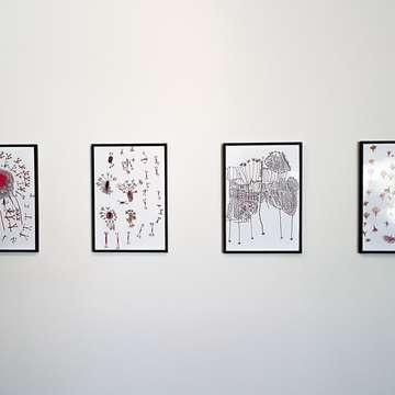 Ενσύρματες εικόνες στον τοίχο