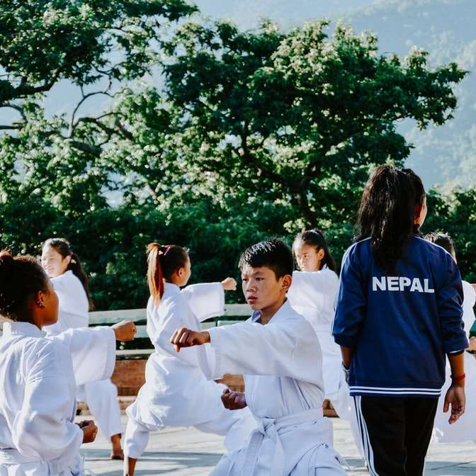 Nepal karate kids sliding puzzle