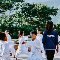 Nepalskie dzieci karate
