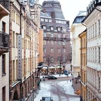 Χιονισμένη οδός της Στοκχόλμης