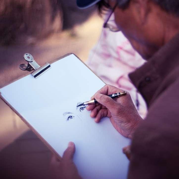 Férfi művész rajz