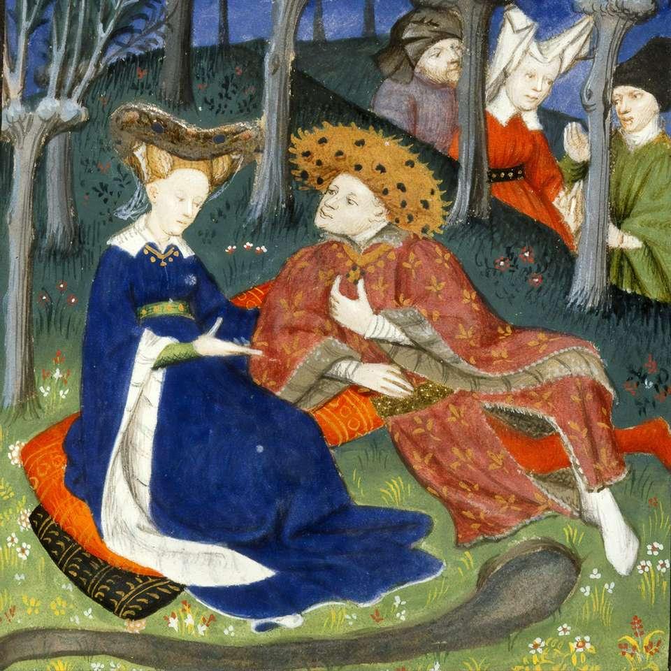 mulher na pintura de vestido azul - Dia dos Namorados - Uma seleção de imagens inspiradas no amor da British Library, digitalizadas em livros do século XIX (4×4)