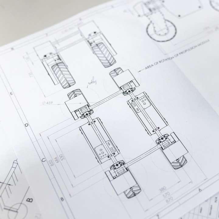 Conceptions de robots agricoles - papier d'imprimante blanc avec des notes de musique (5×5)