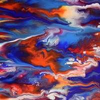 Textura de pintura líquida colorida
