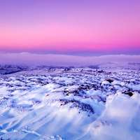Snow,landscape,twilight