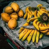 Gelbes Gramm im Dong Ba Markt