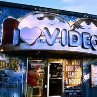 I heart Video signage