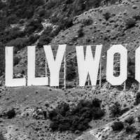Hollywood podepsat Los Angeles, Kalifornie během dne
