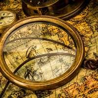 Rutsche und Karte