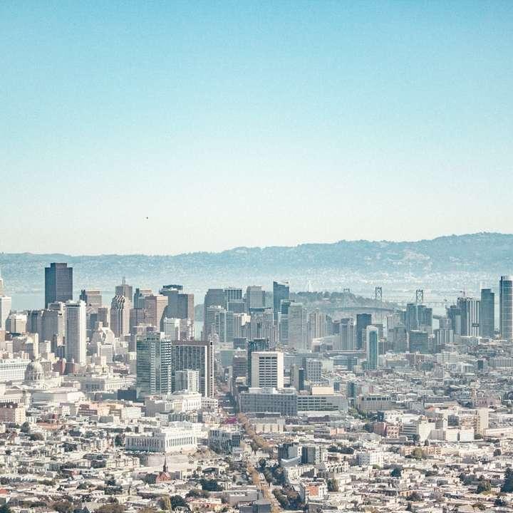 city skyline under blue sky during daytime online puzzle