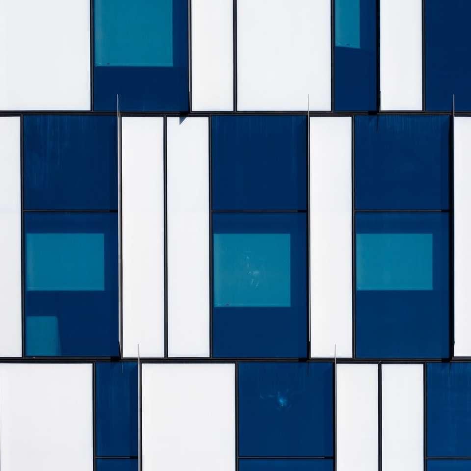 blue and white concrete building online puzzle