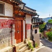 traditional Korean houses of Bukchon Hanok Village
