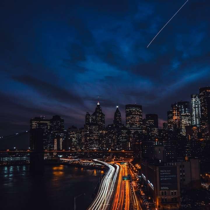 aerial's photo of metropolitan during night time\