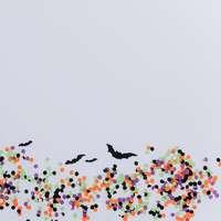 black bat and multicolored dots illustration online puzzel