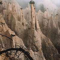 brown rocky mountain during daytime przesuwane puzzle